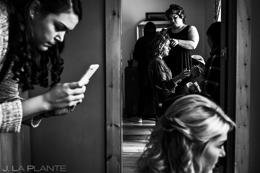 Bride Getting Ready | Planet Bluegrass Wedding | Boulder Wedding Photographer | J. La Plante Photo