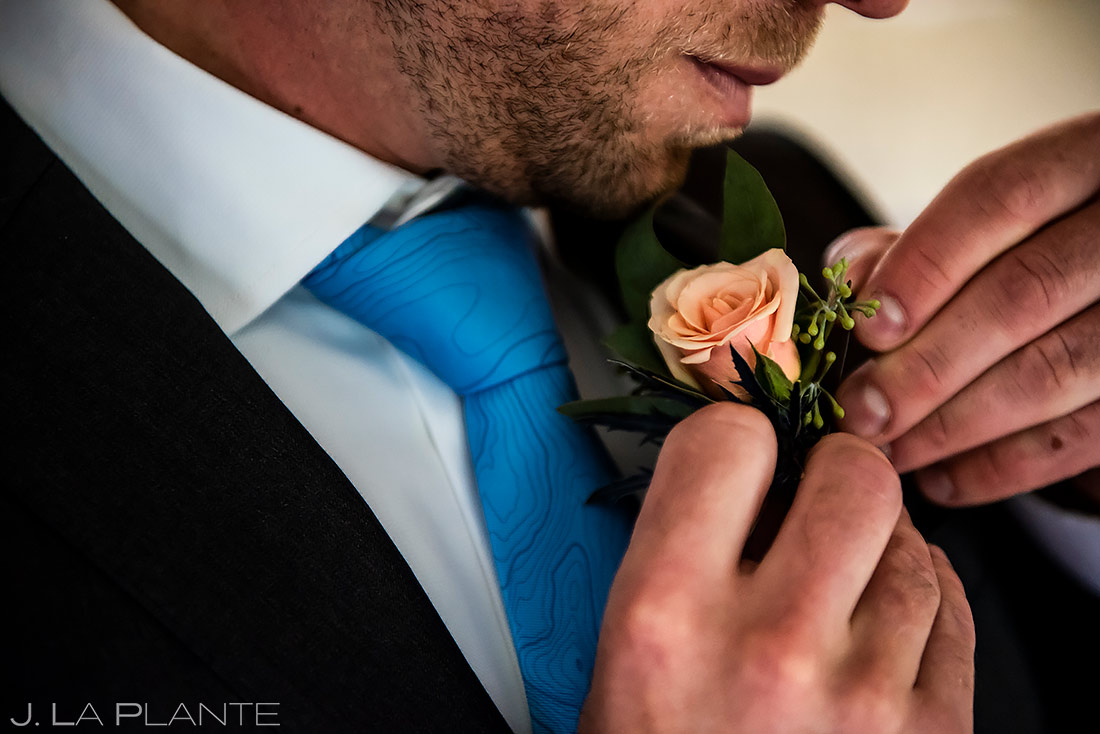 Groom Boutonniere | Shupe Homestead Wedding | Boulder Wedding Photographer | J. La Plante Photo