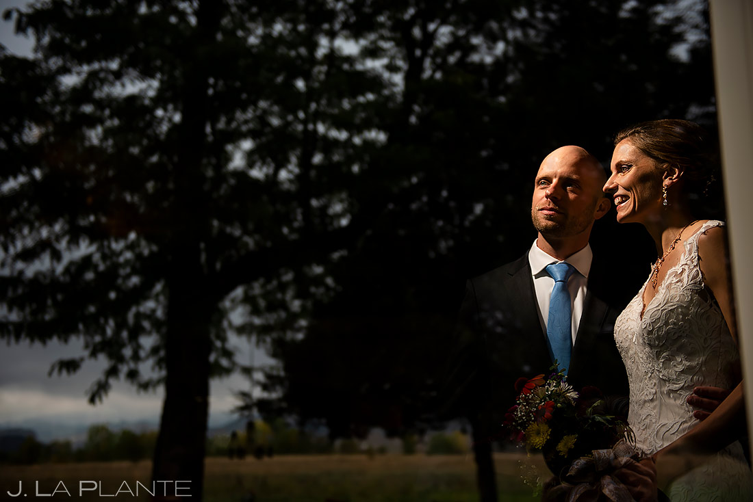 Cool Bride and Groom Photo | Shupe Homestead Wedding | Boulder Wedding Photographer | J. La Plante Photo