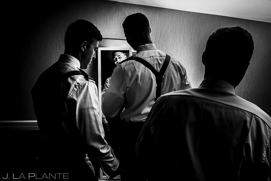Groomsmen Getting Ready | Cheyenne Mountain Resort Wedding | Colorado Springs Wedding Photographer | J. La Plante Photo