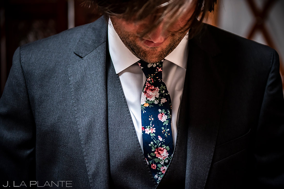 Groom Getting Ready | Planet Bluegrass Wedding | Boulder Wedding Photographer | J. La Plante Photo