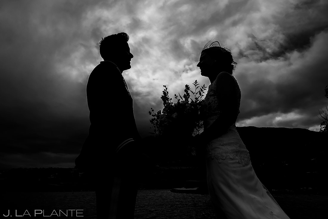 Bride and Groom First Look | Cheyenne Mountain Resort Wedding | Colorado Springs Wedding Photographer | J. La Plante Photo
