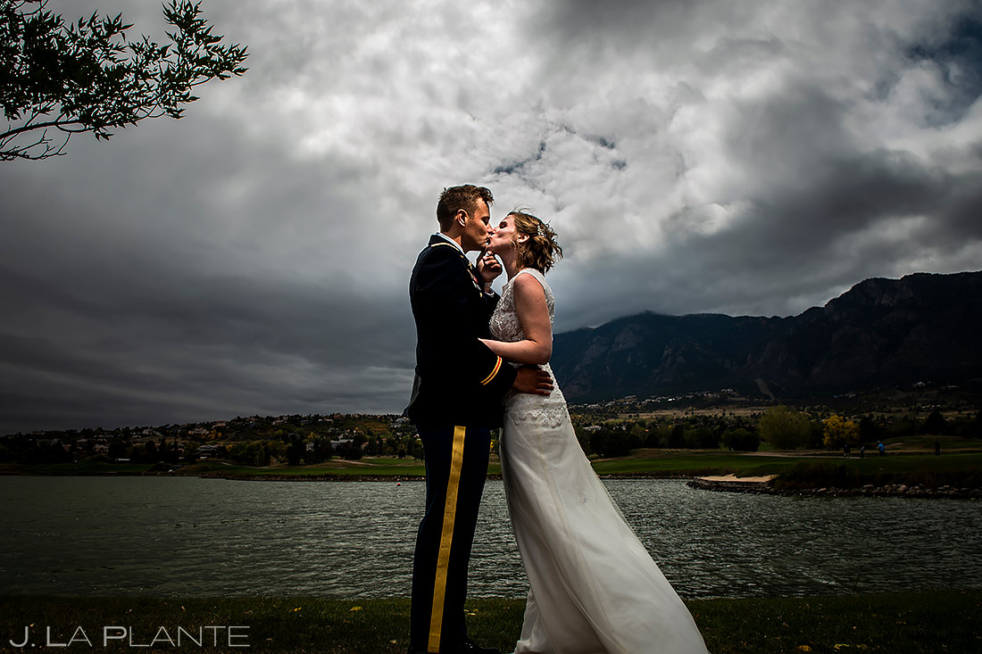 Bride and Groom Portrait | Cheyenne Mountain Resort Wedding | Colorado Springs Wedding Photographer | J. La Plante Photo