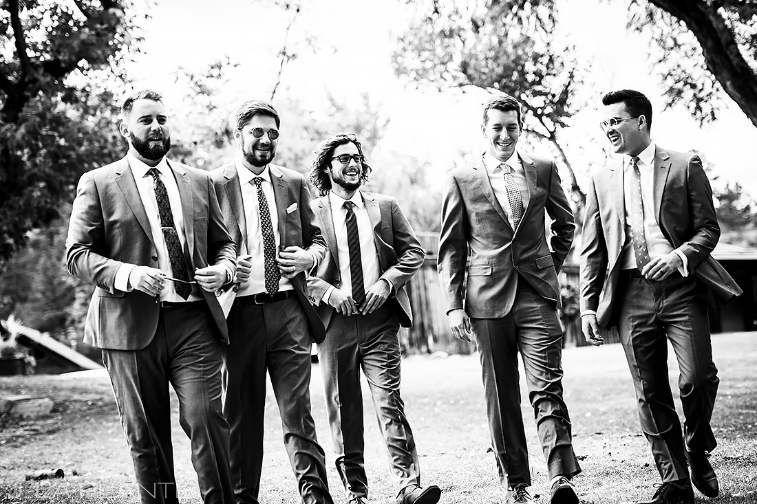 Groomsmen | Planet Bluegrass Wedding | Boulder Wedding Photographer | J. La Plante Photo
