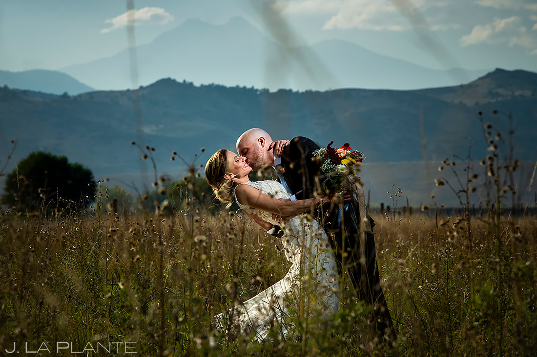 Bride and Groom Longs Peak | Shupe Homestead Wedding | Boulder Wedding Photographer | J. La Plante Photo