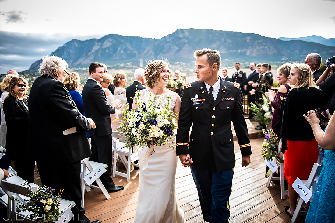 Mountain Wedding Ceremony | Cheyenne Mountain Resort Wedding | Colorado Springs Wedding Photographer | J. La Plante Photo