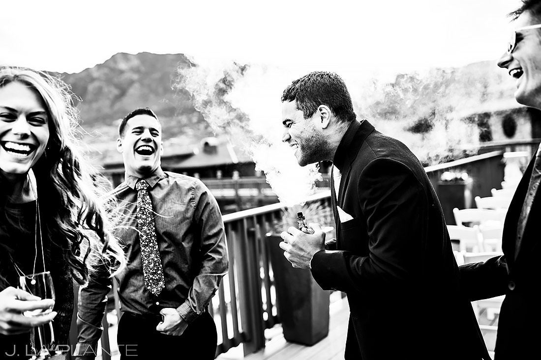 Wedding Guests at Cocktail Hour | Cheyenne Mountain Resort Wedding | Colorado Springs Wedding Photographer | J. La Plante Photo