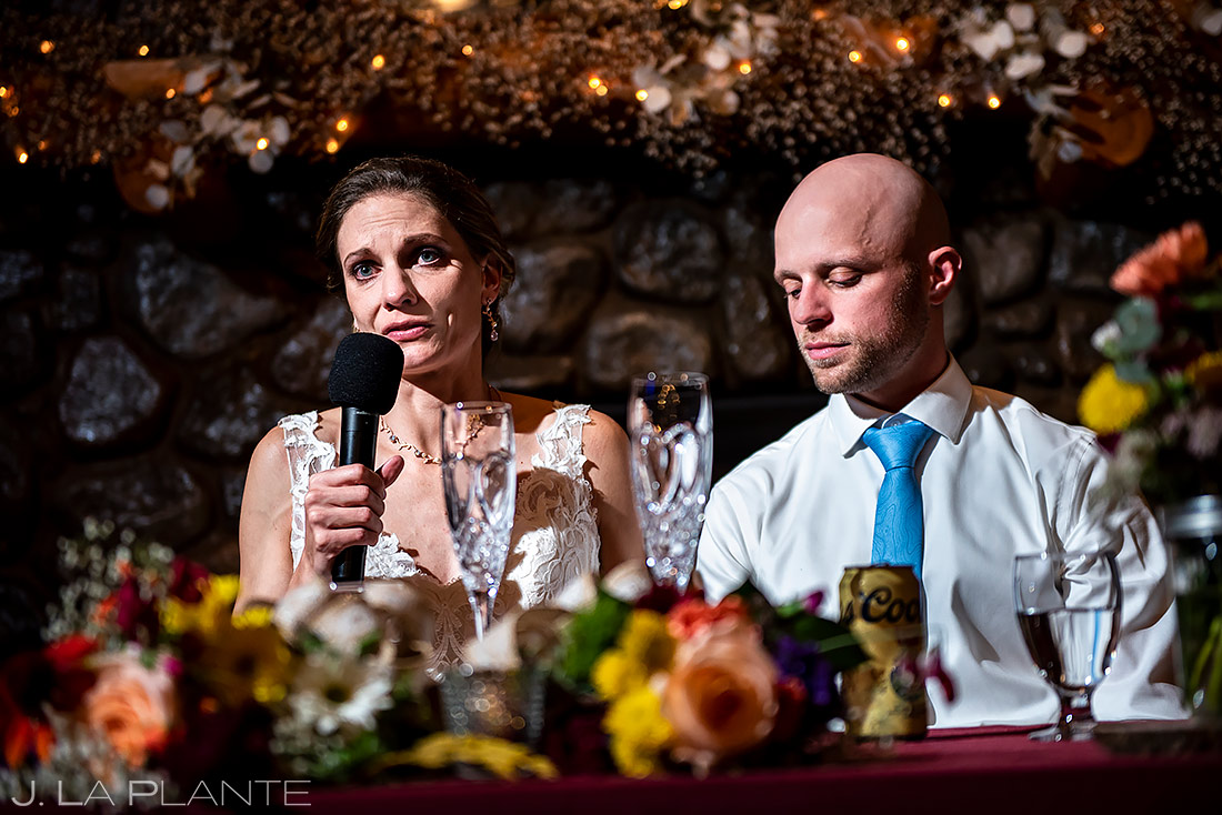 Bride Welcome Speech | Shupe Homestead Wedding | Boulder Wedding Photographer | J. La Plante Photo