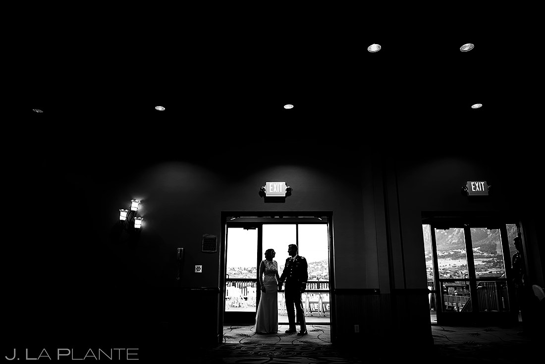 Bride and Groom Entrance | Cheyenne Mountain Resort Wedding | Colorado Springs Wedding Photographer | J. La Plante Photo