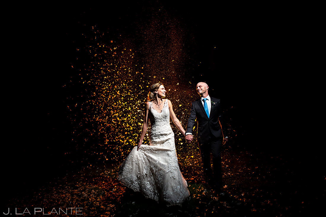 Wedding Confetti Cannons | Shupe Homestead Wedding | Boulder Wedding Photographer | J. La Plante Photo