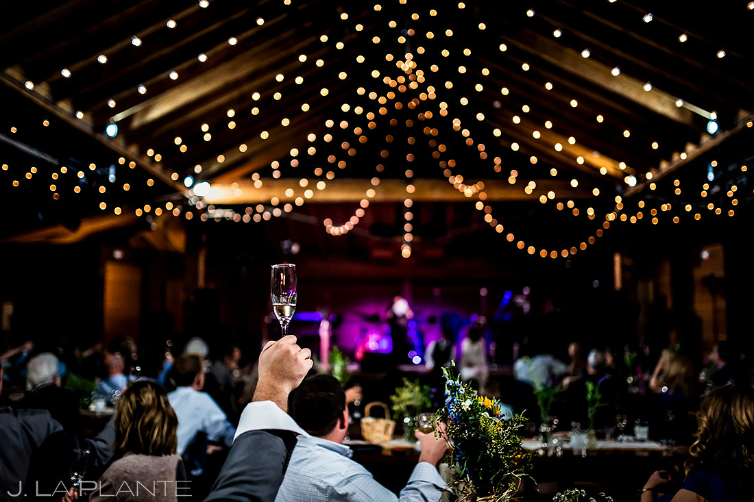 Wedding Toasts | Planet Bluegrass Wedding | Boulder Wedding Photographer | J. La Plante Photo