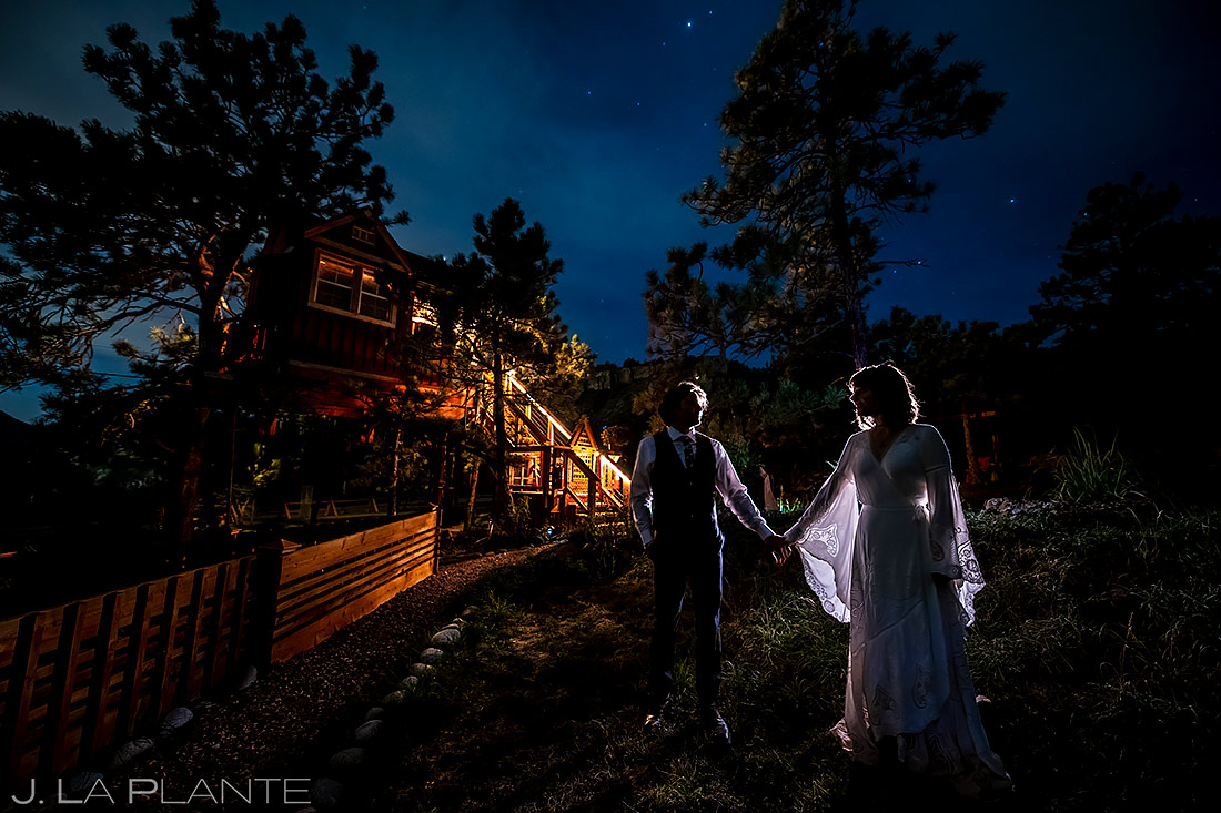 Nighttime Wedding Photo | Planet Bluegrass Wedding | Boulder Wedding Photographer | J. La Plante Photo