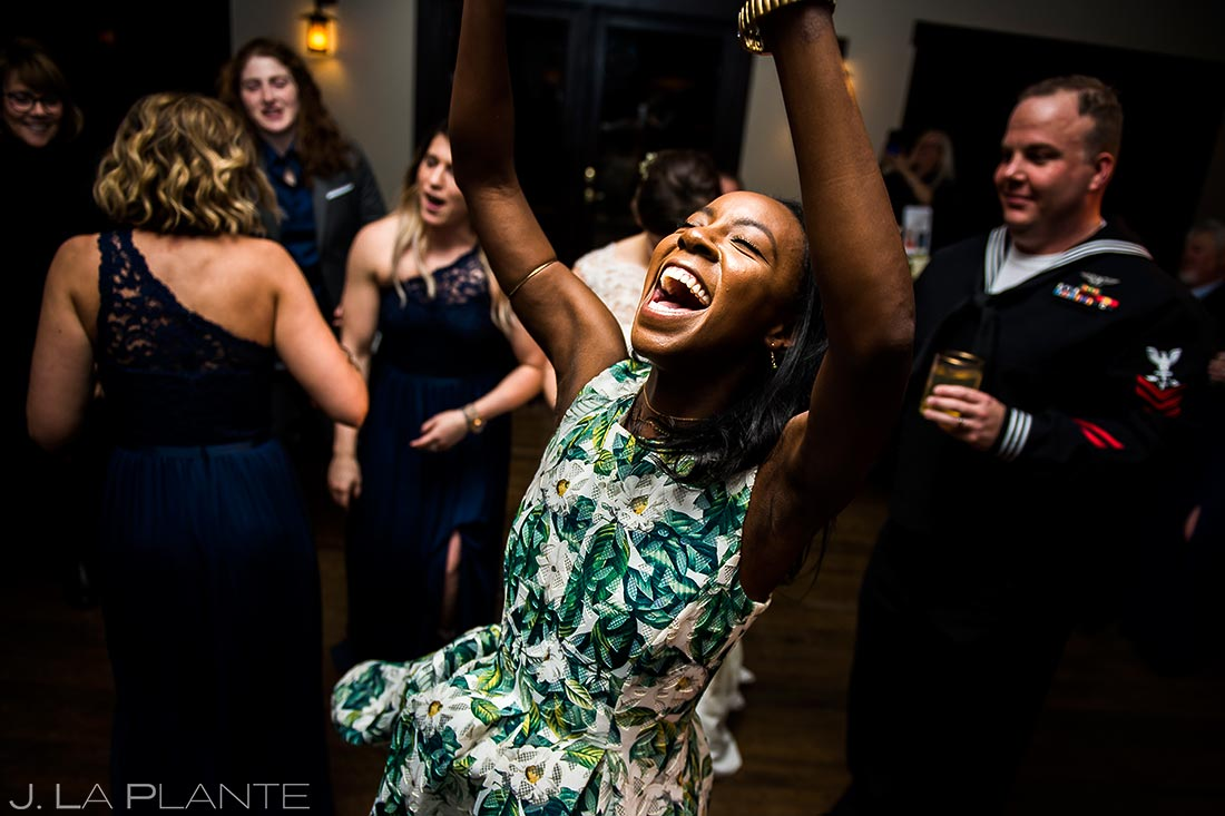 Wedding Reception Dance Party | Mary's Lake Lodge Wedding | Estes Park Wedding Photographer | J. La Plante Photo