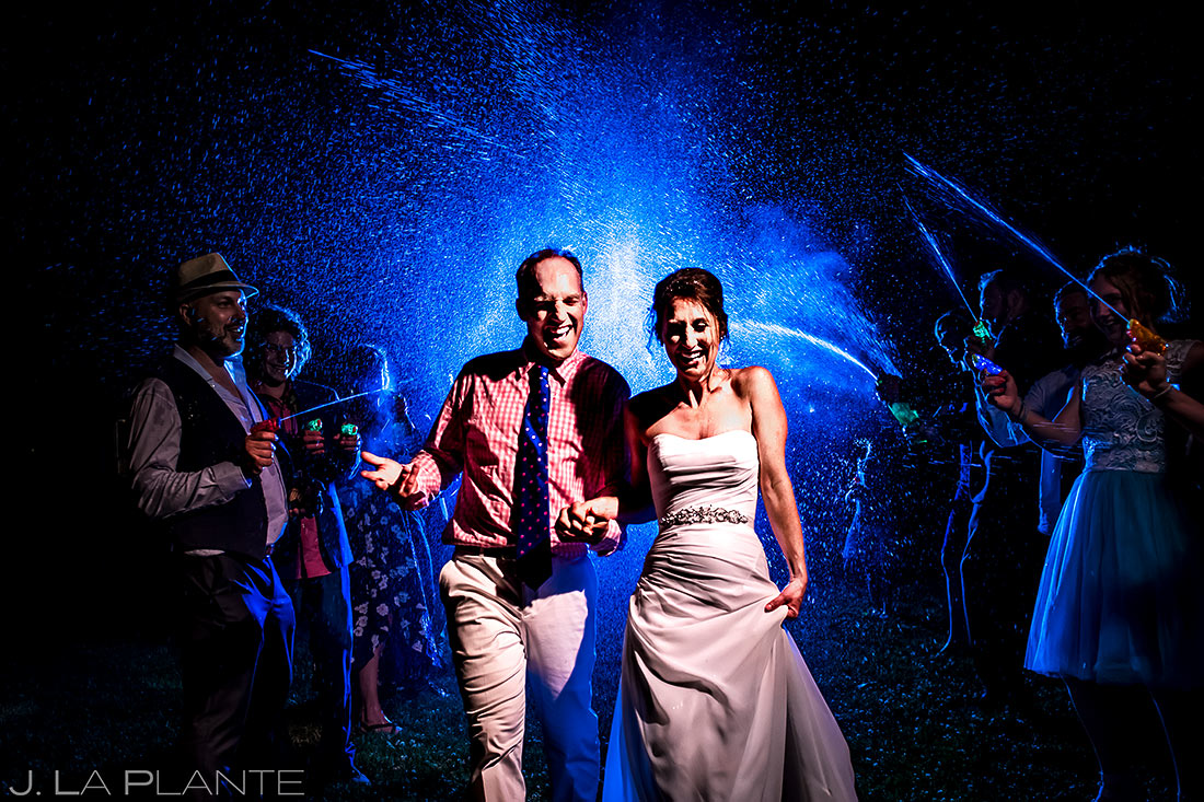 Bride and Groom Send Off | Chautauqua Park Wedding | Boulder Wedding Photographer | J. La Plante Photo