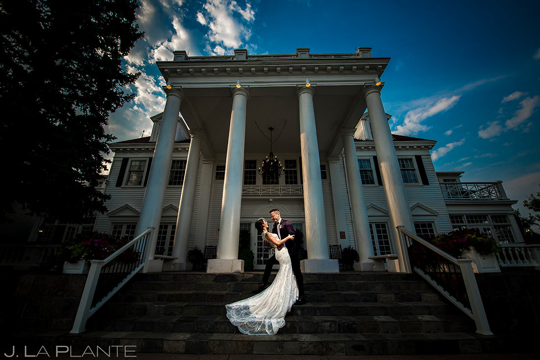 Cool Wedding Dress Photo | Manor House Wedding | Denver Wedding Photographer | J. La Plante Photo
