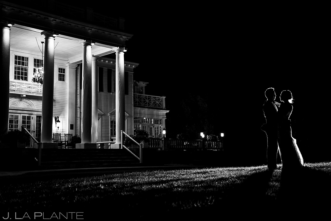 Bride and Groom Silhouette | Manor House Wedding | Denver Wedding Photographer | J. La Plante Photo