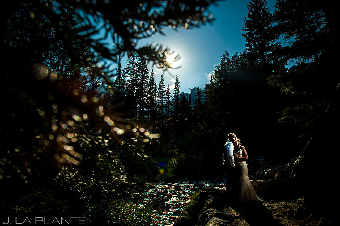 Bride and Groom Portrait | Rocky Mountain National Park Wedding | Estes Park Wedding Photographer | J. La Plante Photo