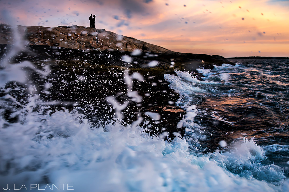 Bride and Groom at Hazard Rock | Rhode Island Wedding | Destination Wedding Photographer | J. La Plante Photo