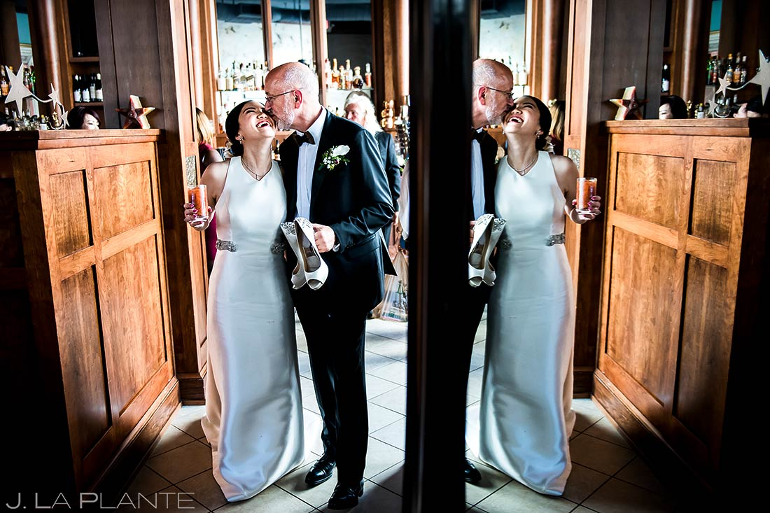 Bride and Groom Reflection | Rhode Island Wedding | Destination Wedding Photographer | J. La Plante Photo