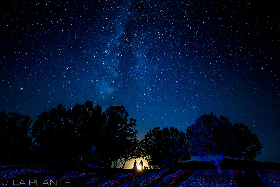 Bride and Groom Milky Way | Buena Vista Wedding | Colorado Wedding Photographer | J. La Plante Photo