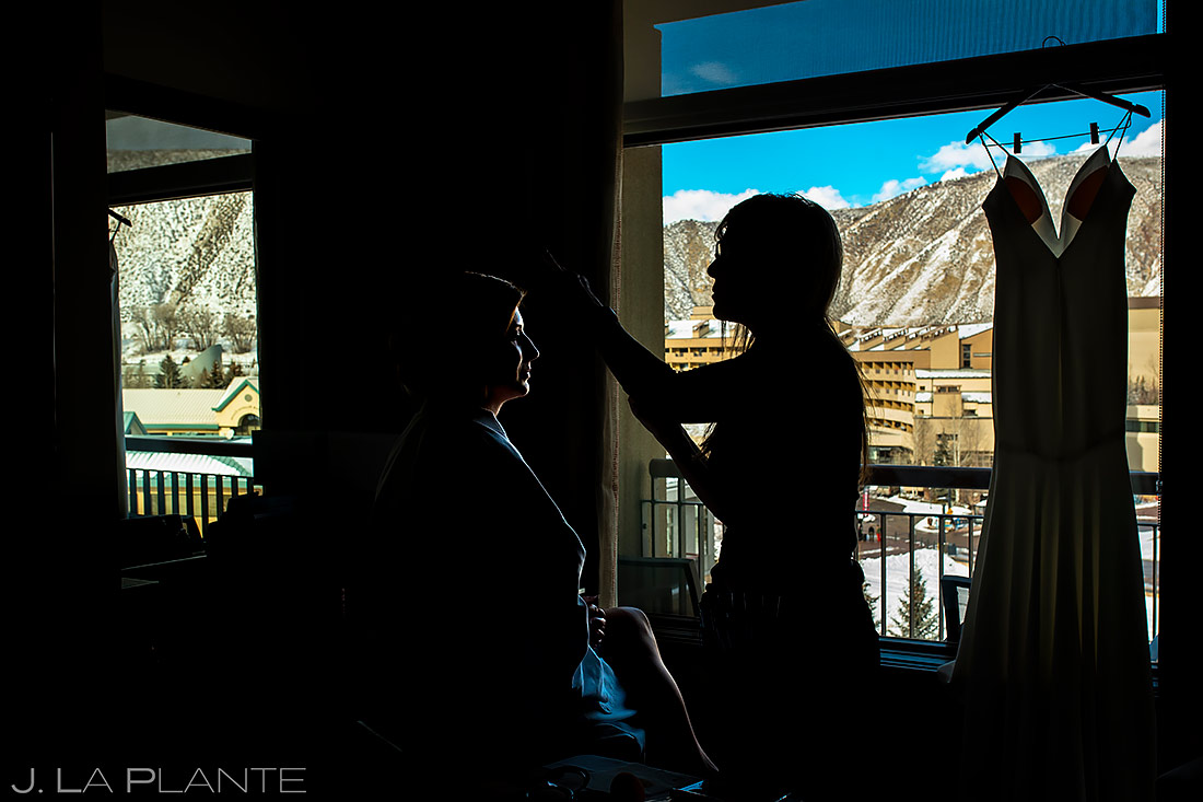 Bride Getting Ready | Sonnenalp Club Wedding | Beaver Creek Wedding Photographer | J. La Plante Photo