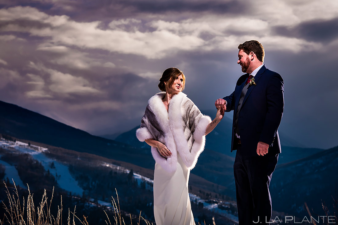 Bride and Groom Portrait | Sonnenalp Club Wedding | Beaver Creek Wedding Photographer | J. La Plante Photo