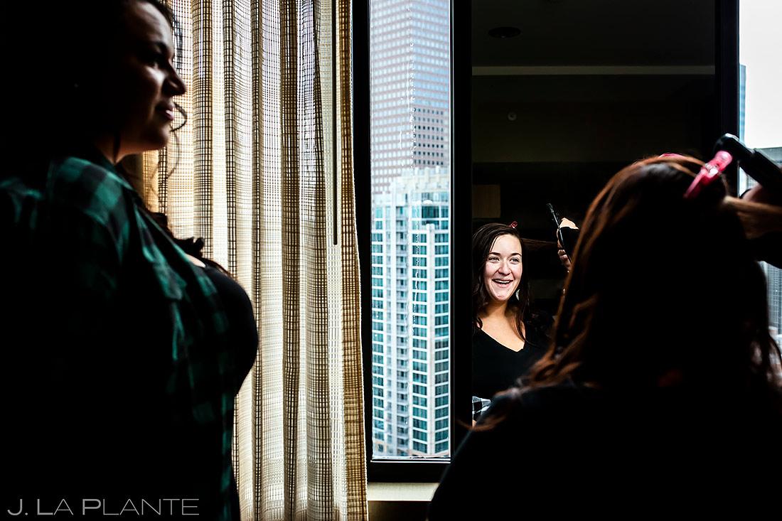 Bride Getting Ready | Downtown Denver Wedding | Denver Wedding Photographer | J. La Plante Photo
