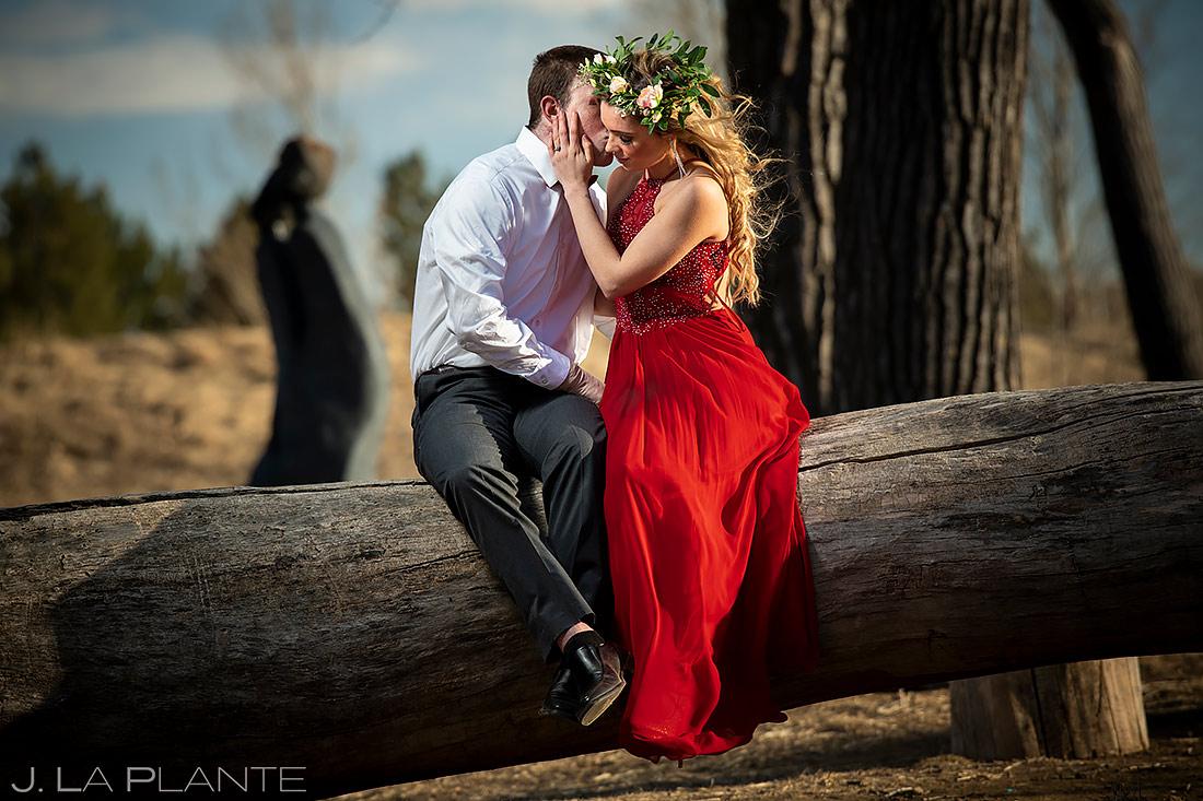 Bride and Groom Portrait | Loveland Engagement | Colorado Wedding Photographers | J. La Plante Photo