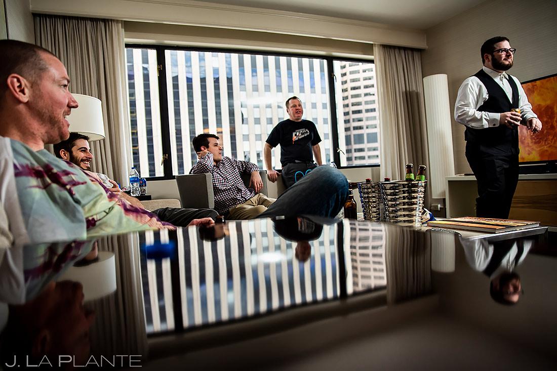 Groom Getting Ready | Downtown Denver Wedding | Denver Wedding Photographer | J. La Plante Photo