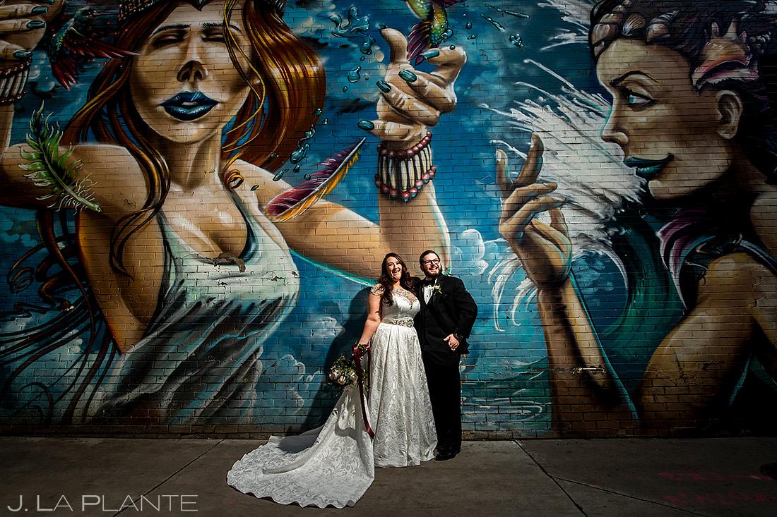 Bride and Groom Portrait | Downtown Denver Wedding | Denver Wedding Photographer | J. La Plante Photo