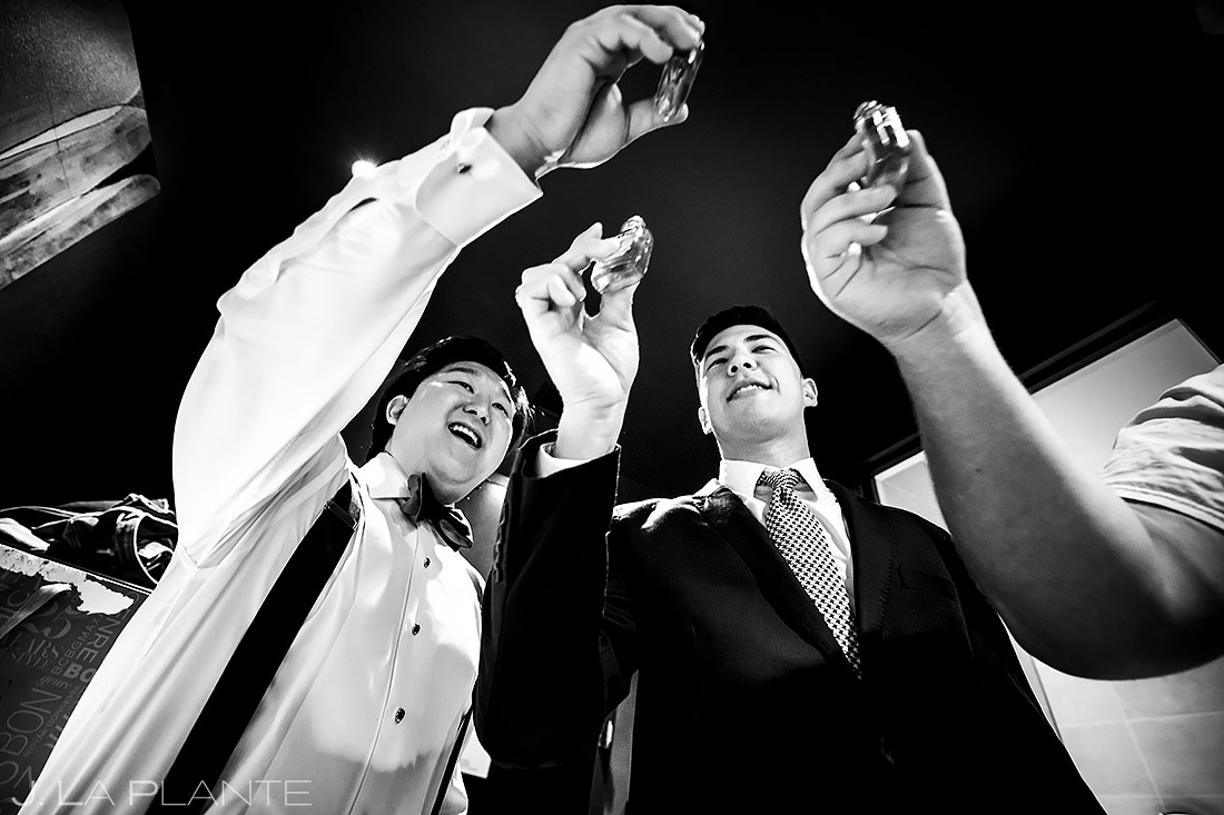 Groom and Groomsmen Doing Shots | Washington DC Wedding | Destination Wedding Photographer | J. La Plante Photo