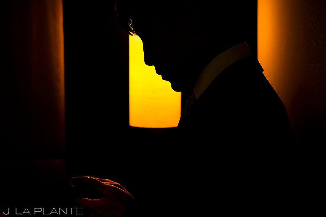Groomsman Silhouette | Washington DC Wedding | Destination Wedding Photographer | J. La Plante Photo