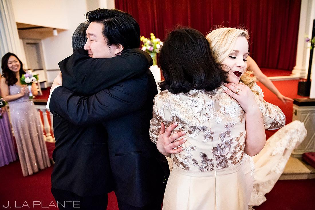 Bride and Groom Hugging Parents | Washington DC Wedding | Destination Wedding Photographer | J. La Plante Photo