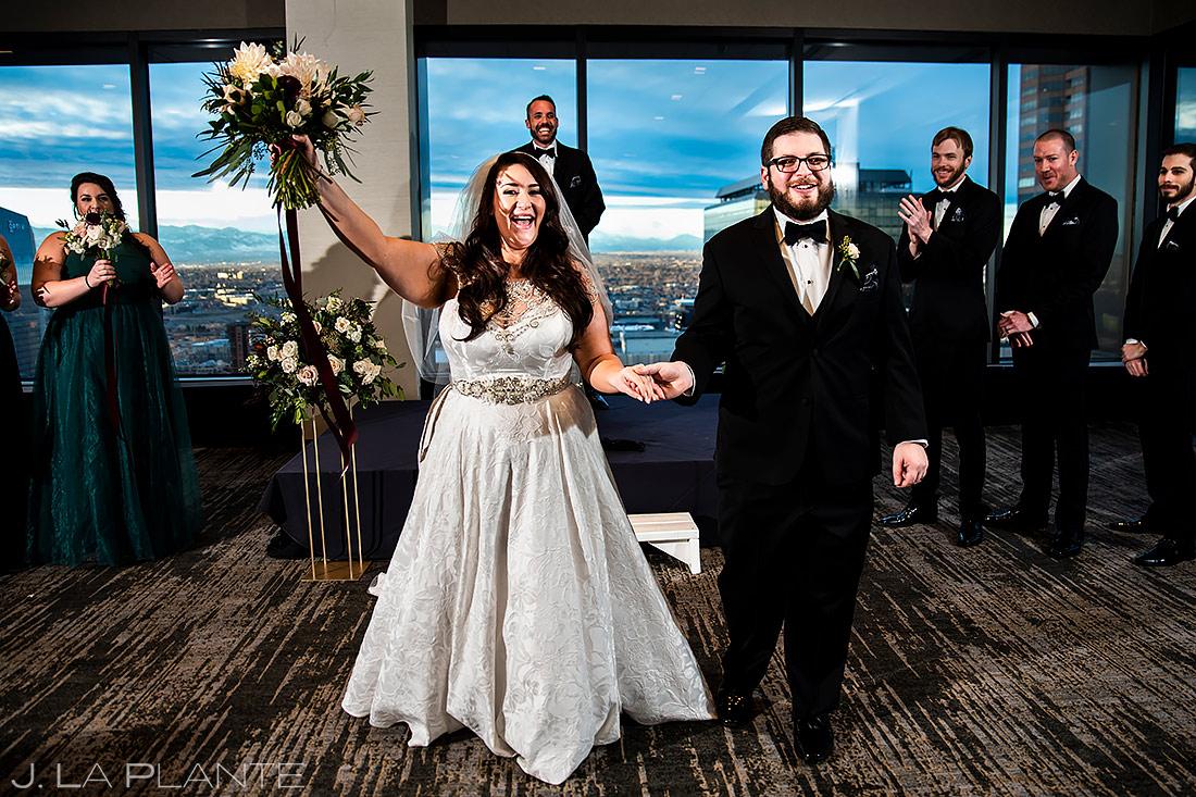 Urban Wedding Ceremony | Downtown Denver Wedding | Denver Wedding Photographer | J. La Plante Photo