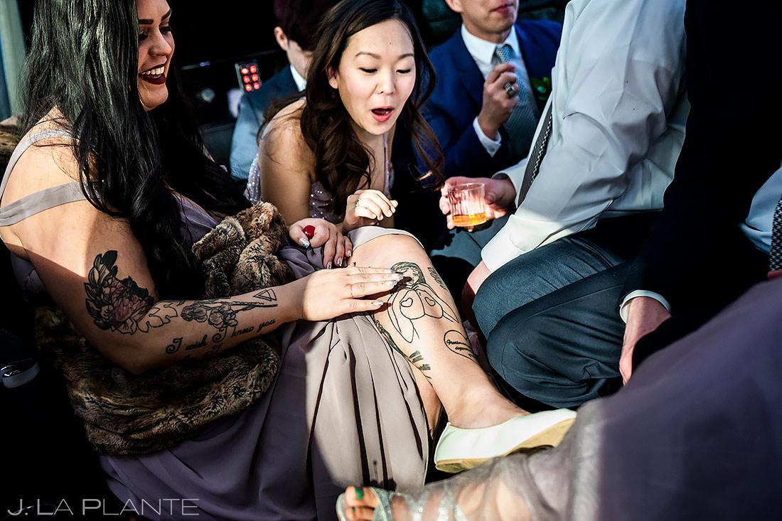 Wedding Party Riding in Limo | Washington DC Wedding | Destination Wedding Photographer | J. La Plante Photo