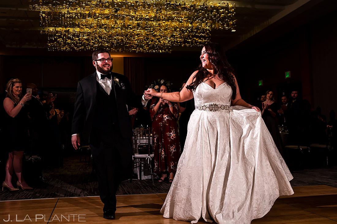Bride and Groom Entrance | Downtown Denver Wedding | Denver Wedding Photographer | J. La Plante Photo