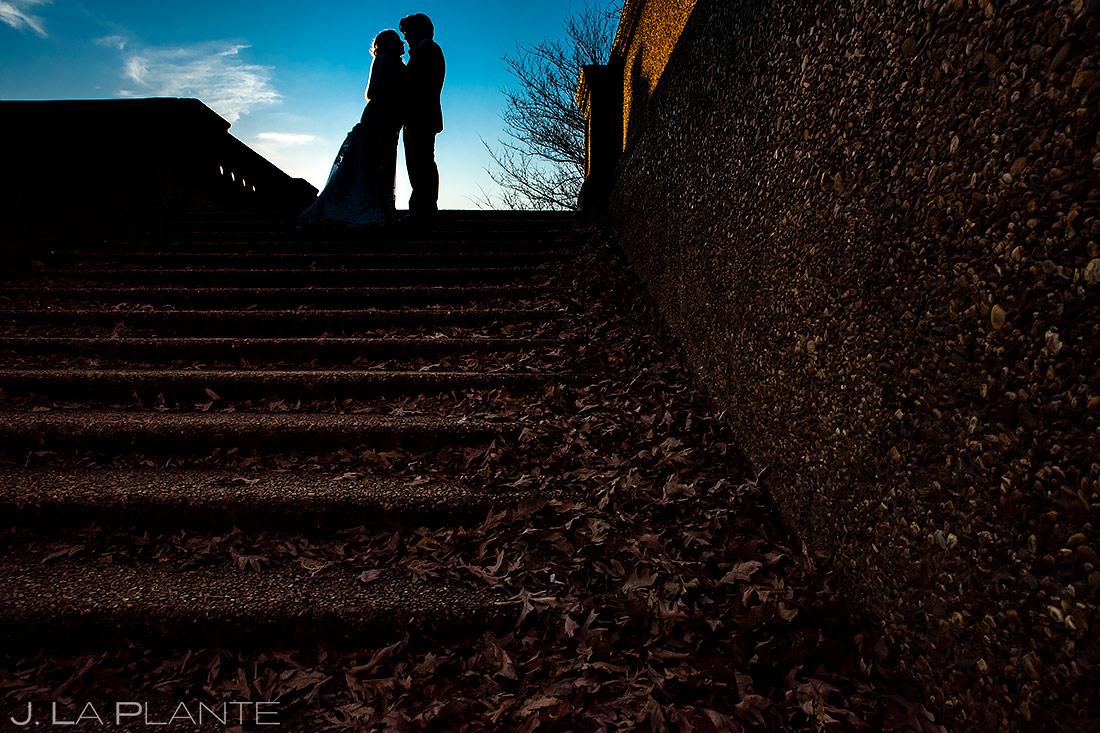 Bride and Groom Silhouette | Washington DC Wedding | Destination Wedding Photographer | J. La Plante Photo