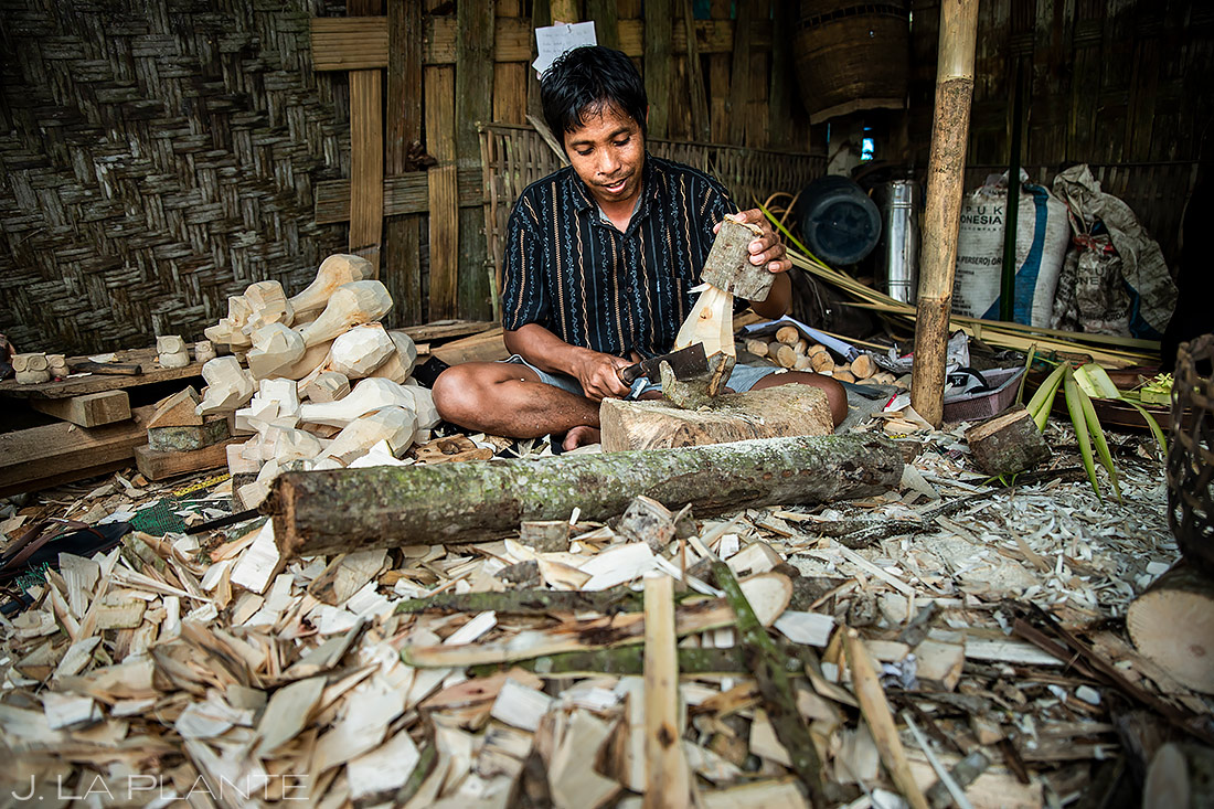 Local Man Carving | Indonesia | Travel Photography | J. La Plante Photo