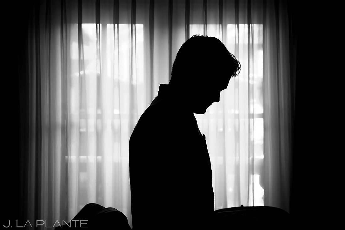 cool silhouette photo of groom