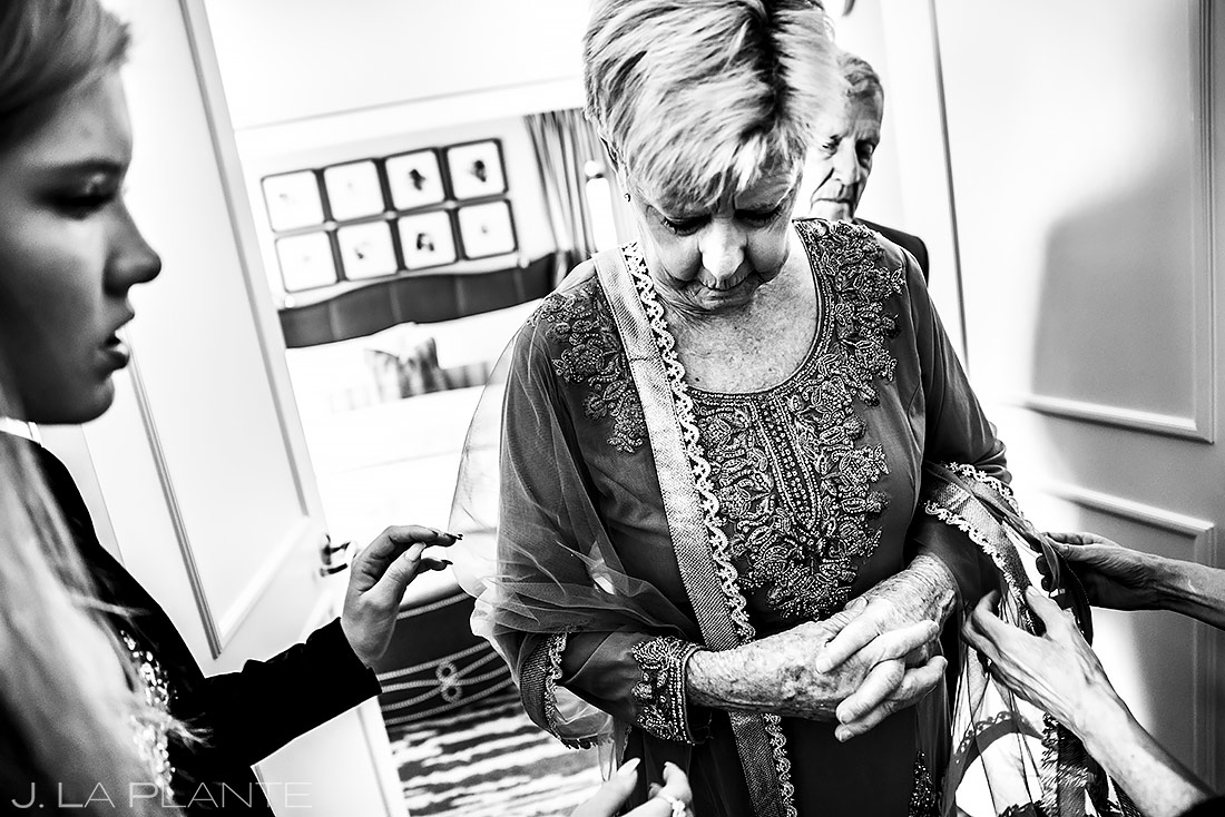 Mother of the Groom Getting Ready | St. Regis Aspen Wedding | Aspen Wedding Photographer | J. La Plante Photo