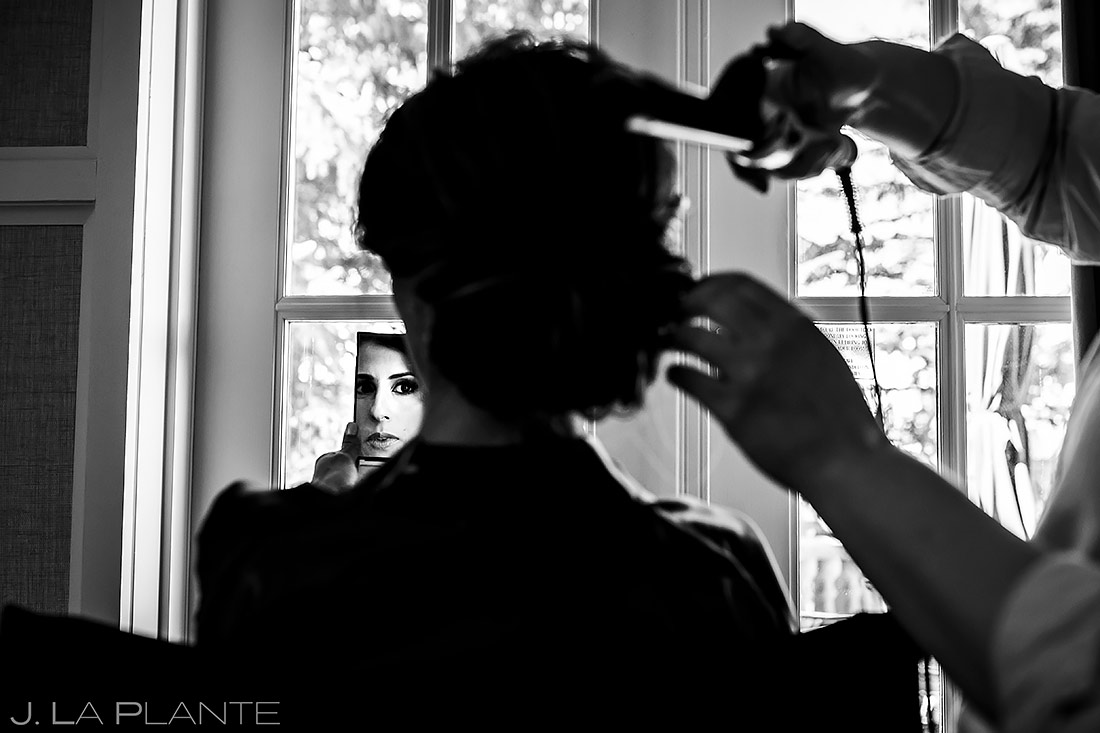 Bride Getting Ready | St. Regis Aspen Wedding | Aspen Wedding Photographer | J. La Plante Photo