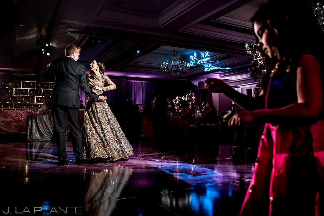 Bride and Groom First Dance | St. Regis Aspen Wedding | Aspen Wedding Photographer | J. La Plante Photo