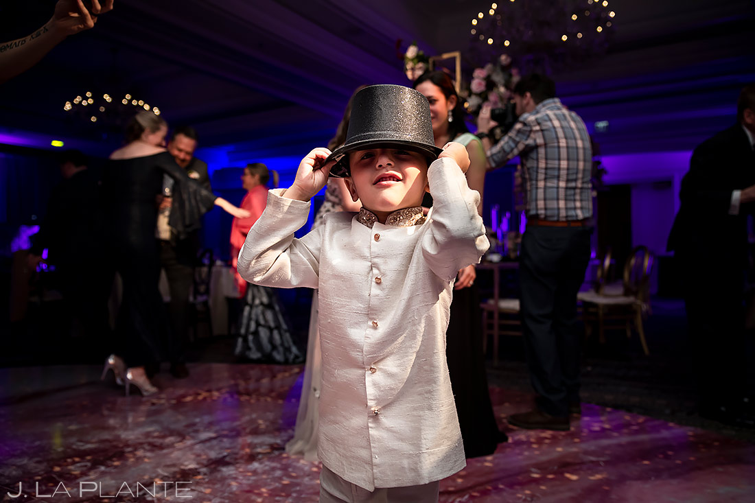 cute kid on the dance floor