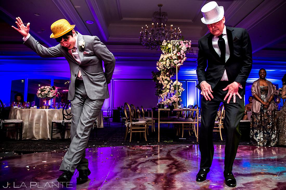 Groom Impersonating Michael Jackson | St. Regis Aspen Wedding | Aspen Wedding Photographer | J. La Plante Photo