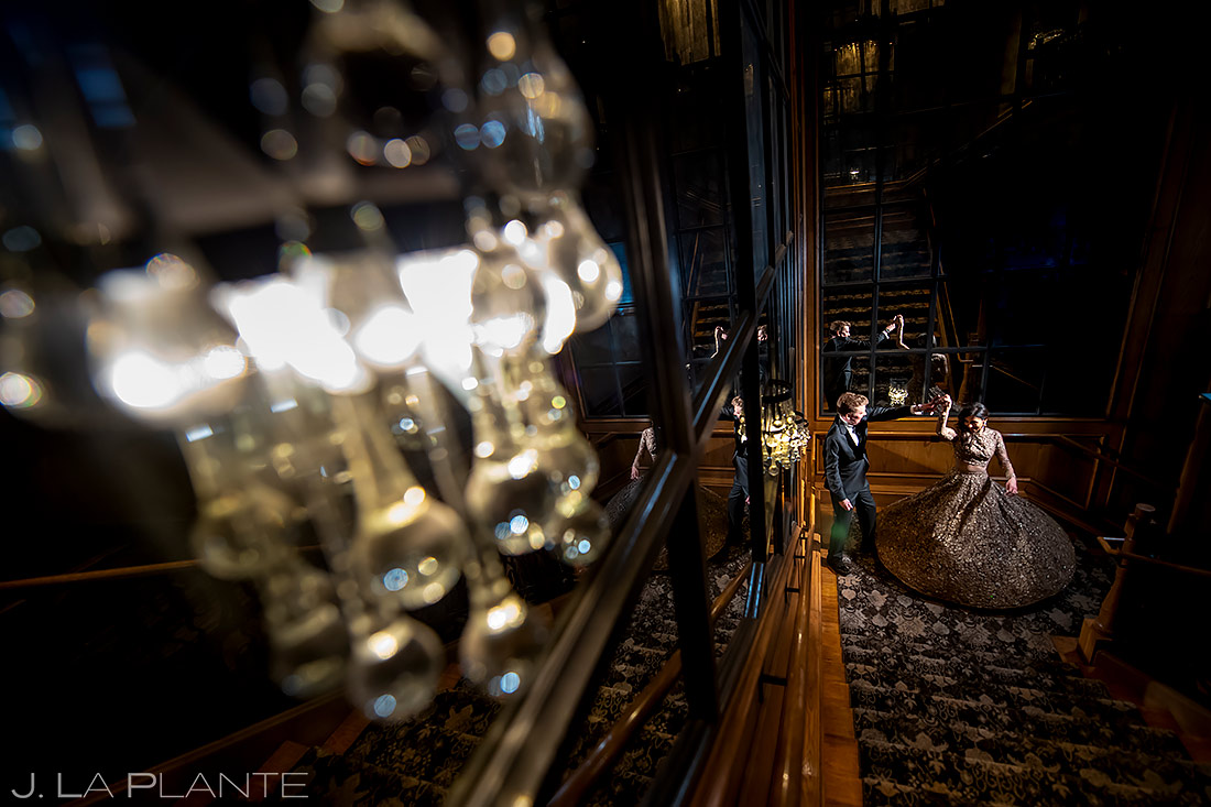 Bride and Groom Dancing | St. Regis Aspen Wedding | Aspen Wedding Photographer | J. La Plante Photo
