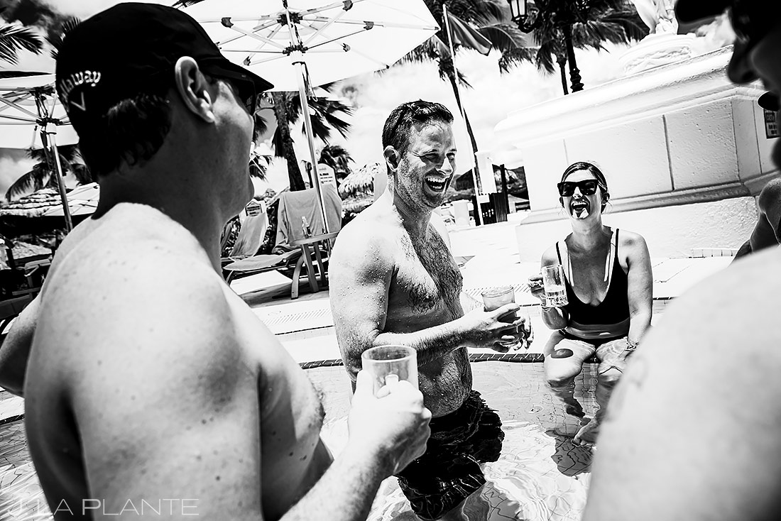 Groom Hanging Out at Pool Bar | St Lucia Wedding | Destination Wedding Photographer | J. La Plante Photo
