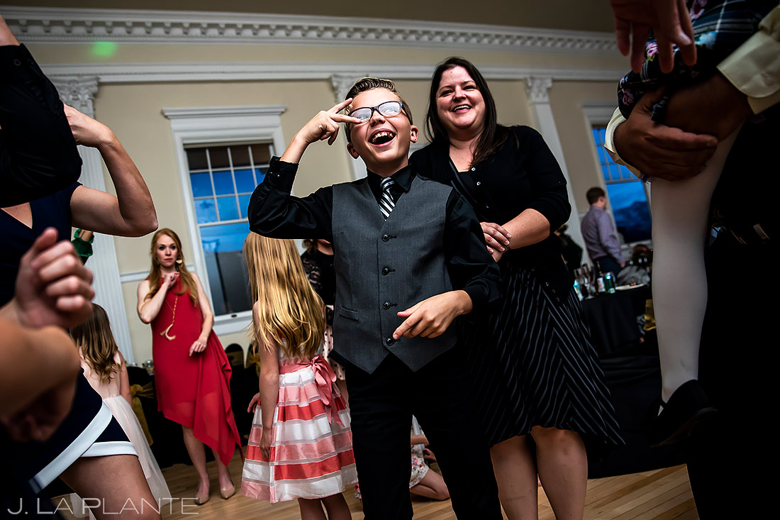 Funny Wedding Kids Dancing | Stanley Hotel Wedding | Estes Park Wedding Photographer | J. La Plante Photo