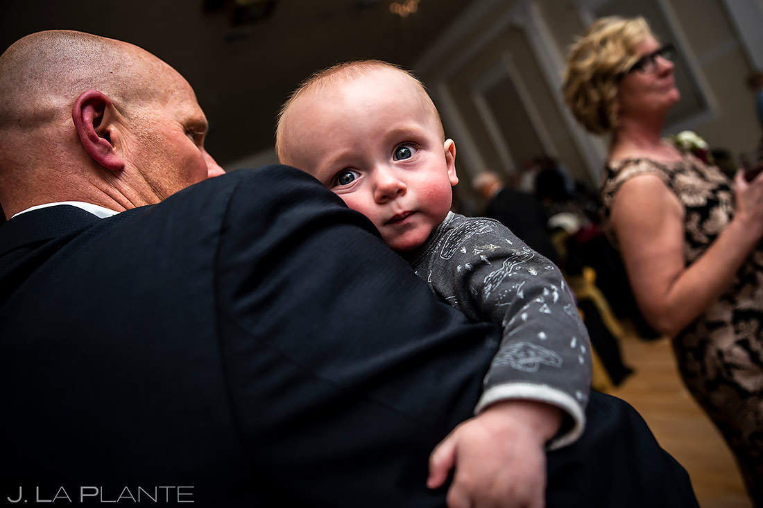 Funny Wedding Baby | Stanley Hotel Wedding | Estes Park Wedding Photographer | J. La Plante Photo