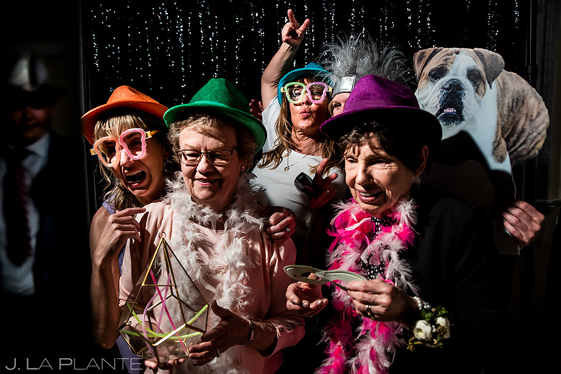 Grandmothers in Photo Booth | Stanley Hotel Wedding | Estes Park Wedding Photographer | J. La Plante Photo