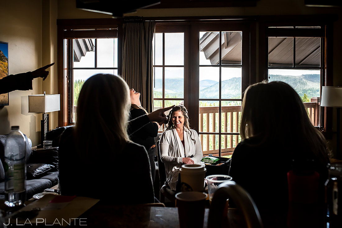 Bride Getting Ready | Tenmile Station Wedding | Breckenridge Wedding Photographer | J. La Plante Photo